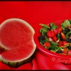 bowl of healthy produce, baby spinach, tomatoes, black berries by © Terry Tasche